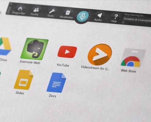 Popular Dragon Professional NaturallySpeaking built-in commands for Google Chrome