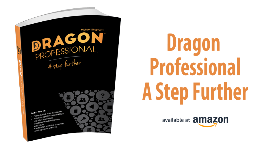 Dragon Professional A Step Further book available at Amazon