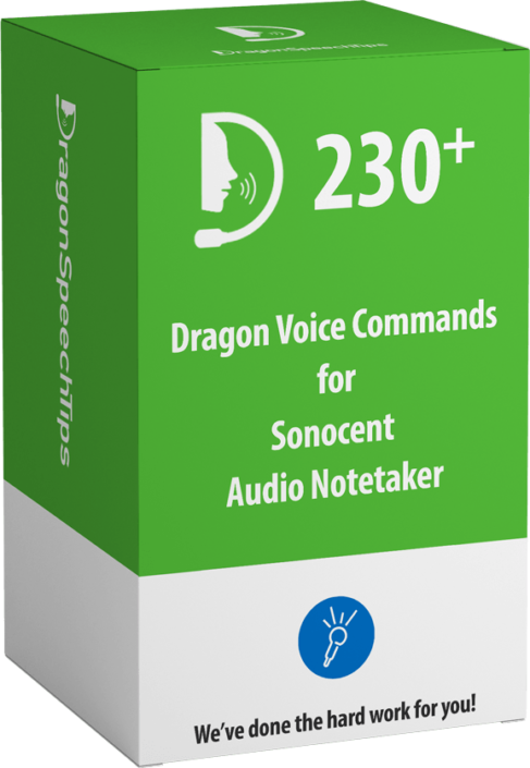 Dragon Professional commands for Sonocent Audio Notetaker by Dragonspeechtips
