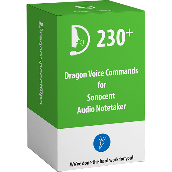 Dragon Professional commands for Sonocent Audio Notetaker by Dragon Speech Tips