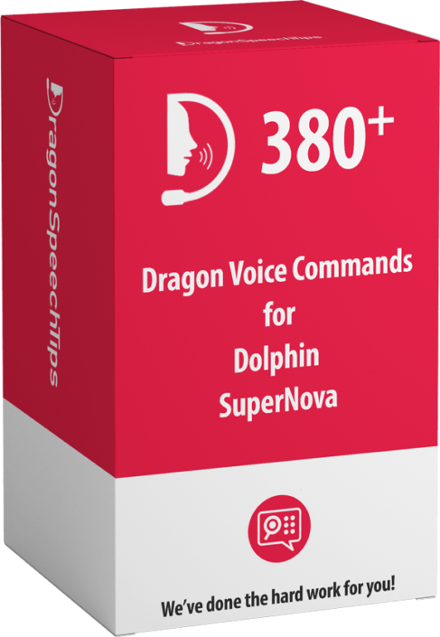 Dragon Professional commands for Dolphin SuperNova by Dragon Speech Tips