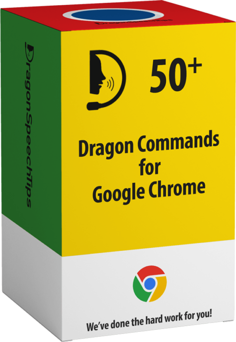 dragonspeechtips Dragon Professional commands for Google Chrome