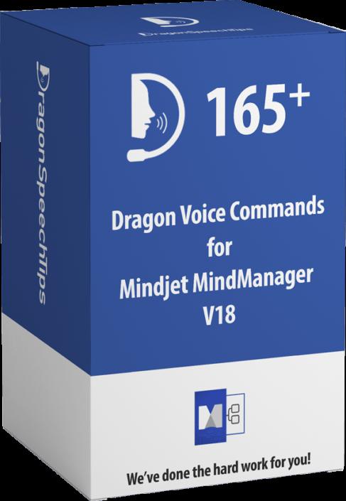 Dragon Professional commands for Mindjet MindManager v18 dragonspeechtips