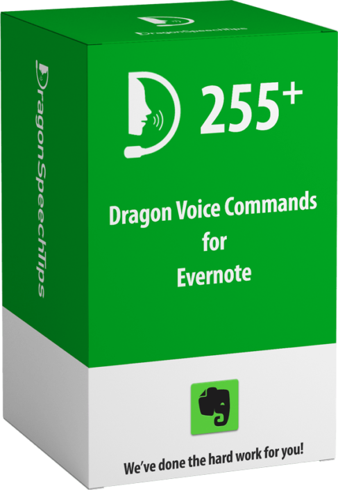 Dragon commands for Evernote DragonSpeechTips