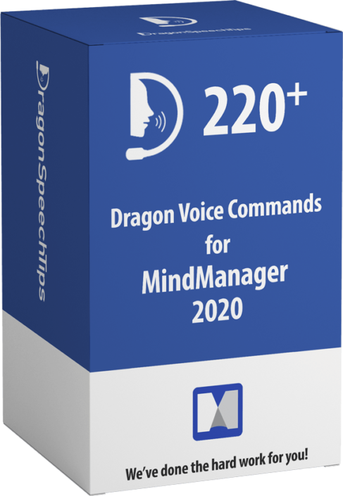 Dragon commands for MindManager version 2020 Dragon Speech Tips