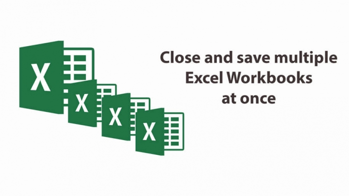 Close and save all microsoft excel workbooks at once