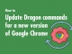 How to update Dragon Speech Tips (DST) Free Dragon Commands for Google Chrome