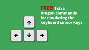Free extra Dragon commands for emulating the keyboard cursor or arrow keys